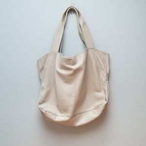 J. Jill Ivory Leather Tote